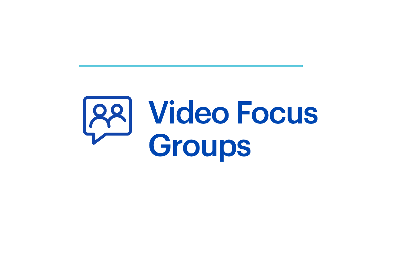 Webinar Video Focus Groups