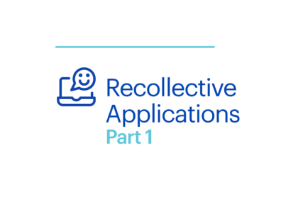 Webinar Recollective Applications Part 1 Cover