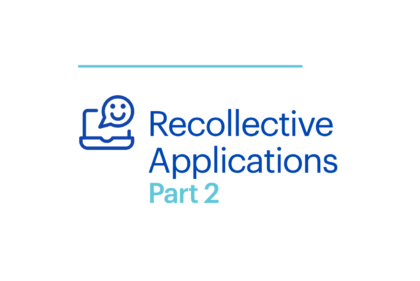 Webinar Recollective Applications Part 2 Cover